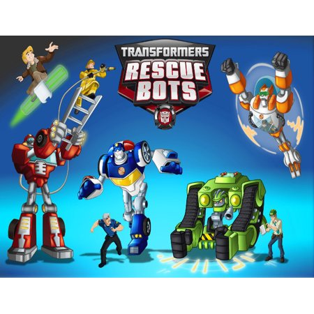 Transformers Rescue Bots Characters Edible Cake Topper Frosting Sheet - (QUARTER SHEET ( 7.5X10)