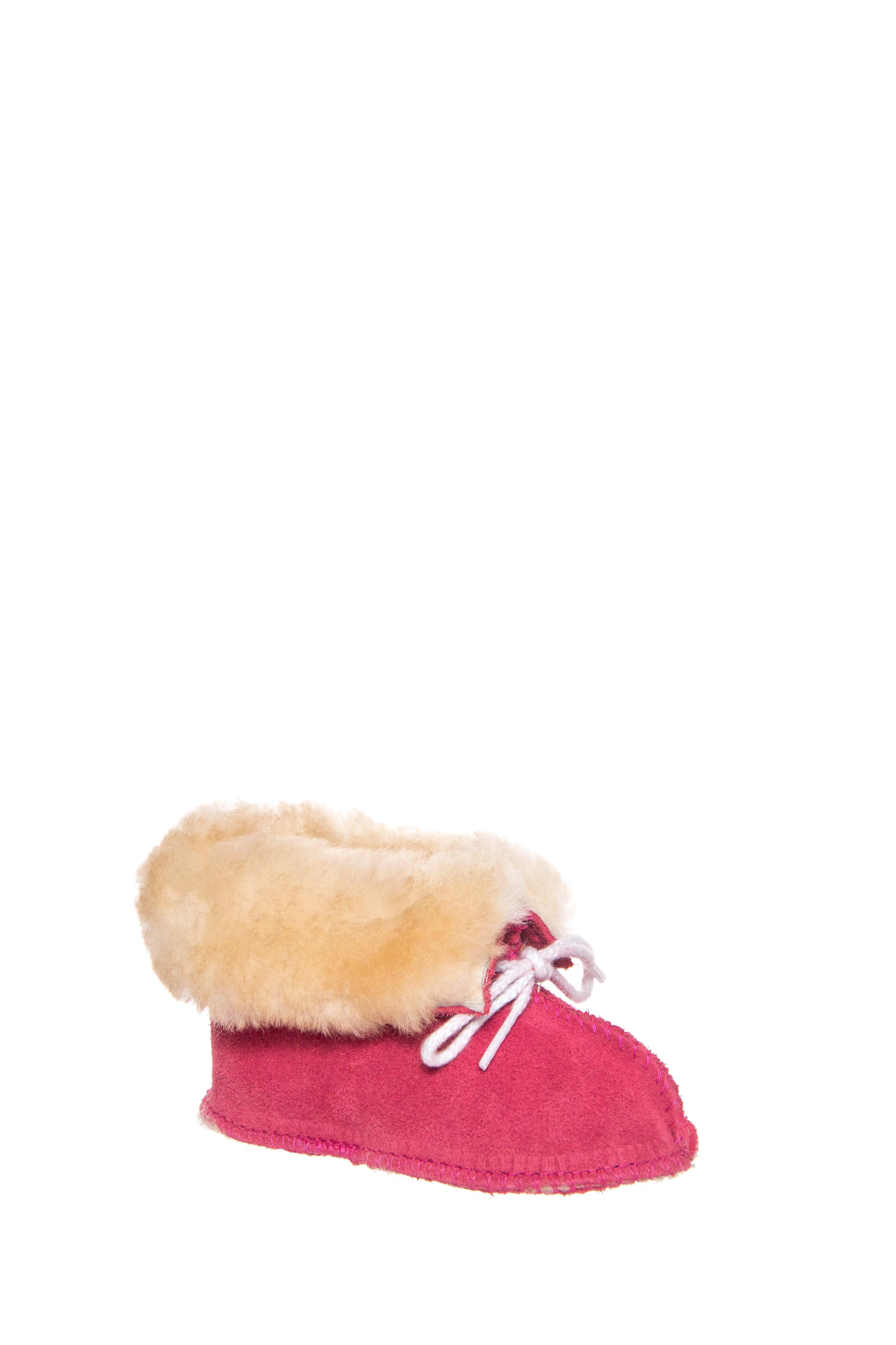 Minnetonka Infants Sheepskin Bootie Hot Pink by