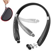 Foldable Bluetooth Headset, Beartwo Lightweight Retractable Bluetooth Headphones for Sports&Exercise, Noise Cancelling Stereo