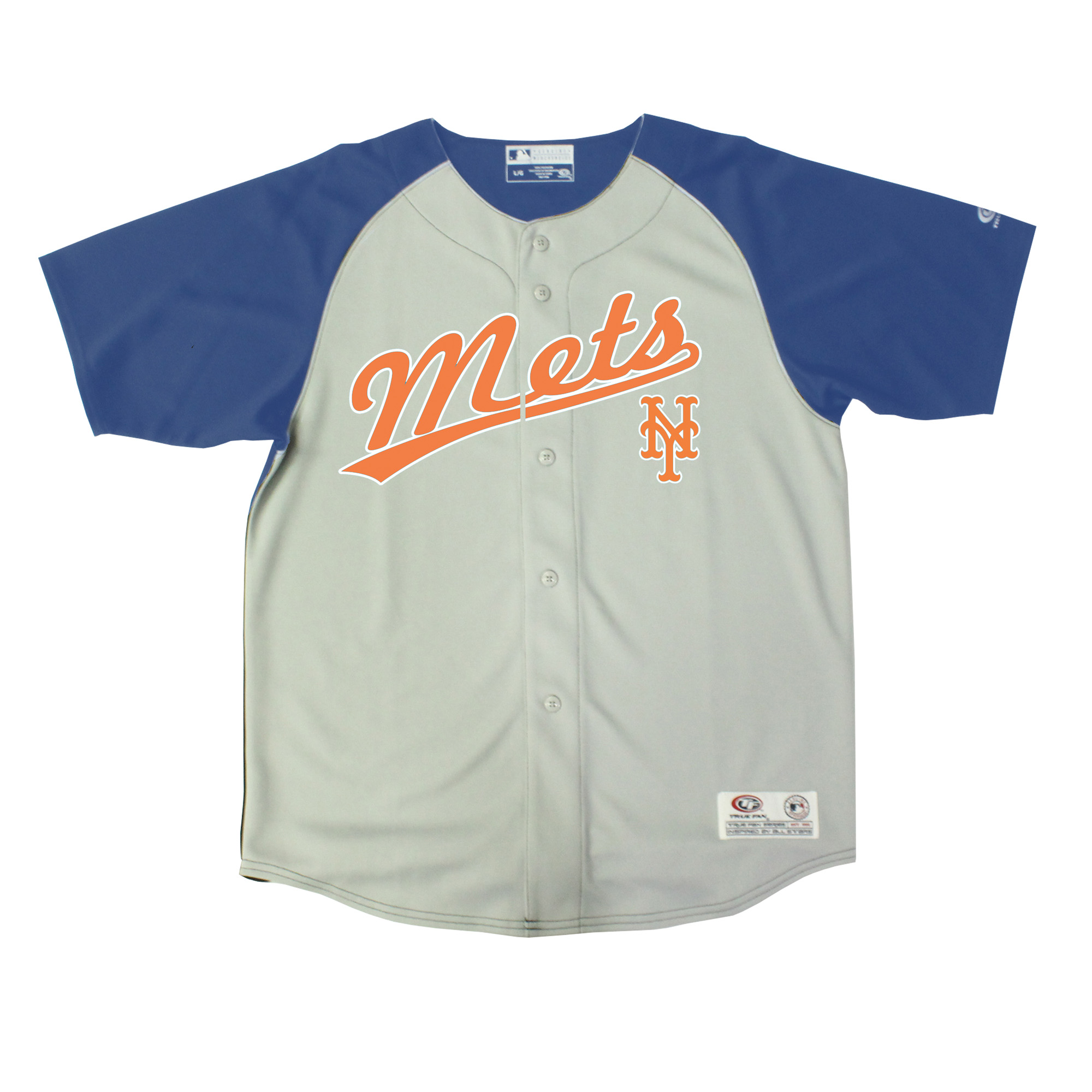 New York Mets Stitches Youth Double Play Jersey - Gray/Royal