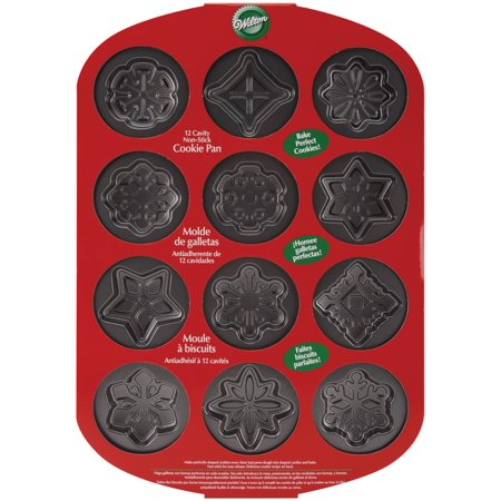 Wilton Halloween Cookie Shapes Non-stick Pan (Wilton 12 Cavity Nonstick Snowflakes Cookie Pan [1,)