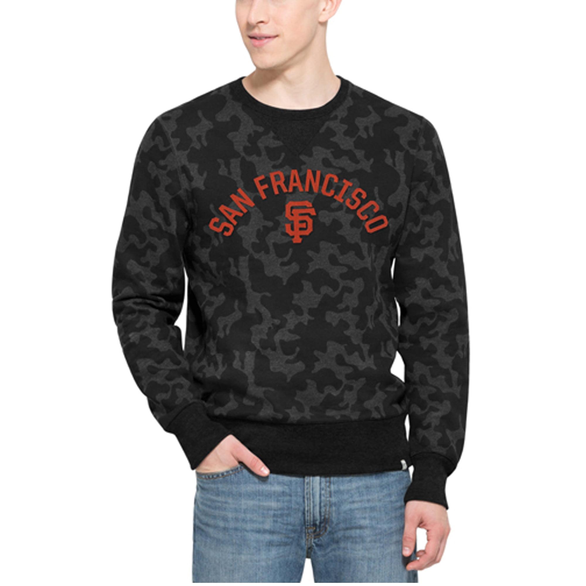 San Francisco Giants '47 Brand Stealth Camo Crew Sweatshirt - Black