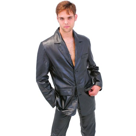 Men's Tall Lambskin Leather Blazer #M3BBGKT - Men In Blazers Halloween