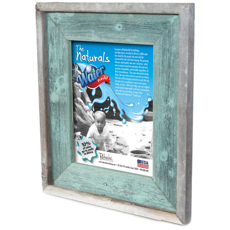 Recherché Furnishings Reclaimed Wood Frame, Jade Color