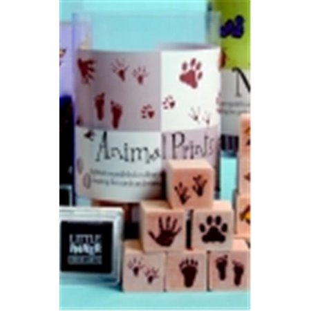 Hero Arts Ink N Stamp Animal Prints Stamp Set With Stamp Pads - 1 x 1 in. - Assorted Bright Color, Set - 18