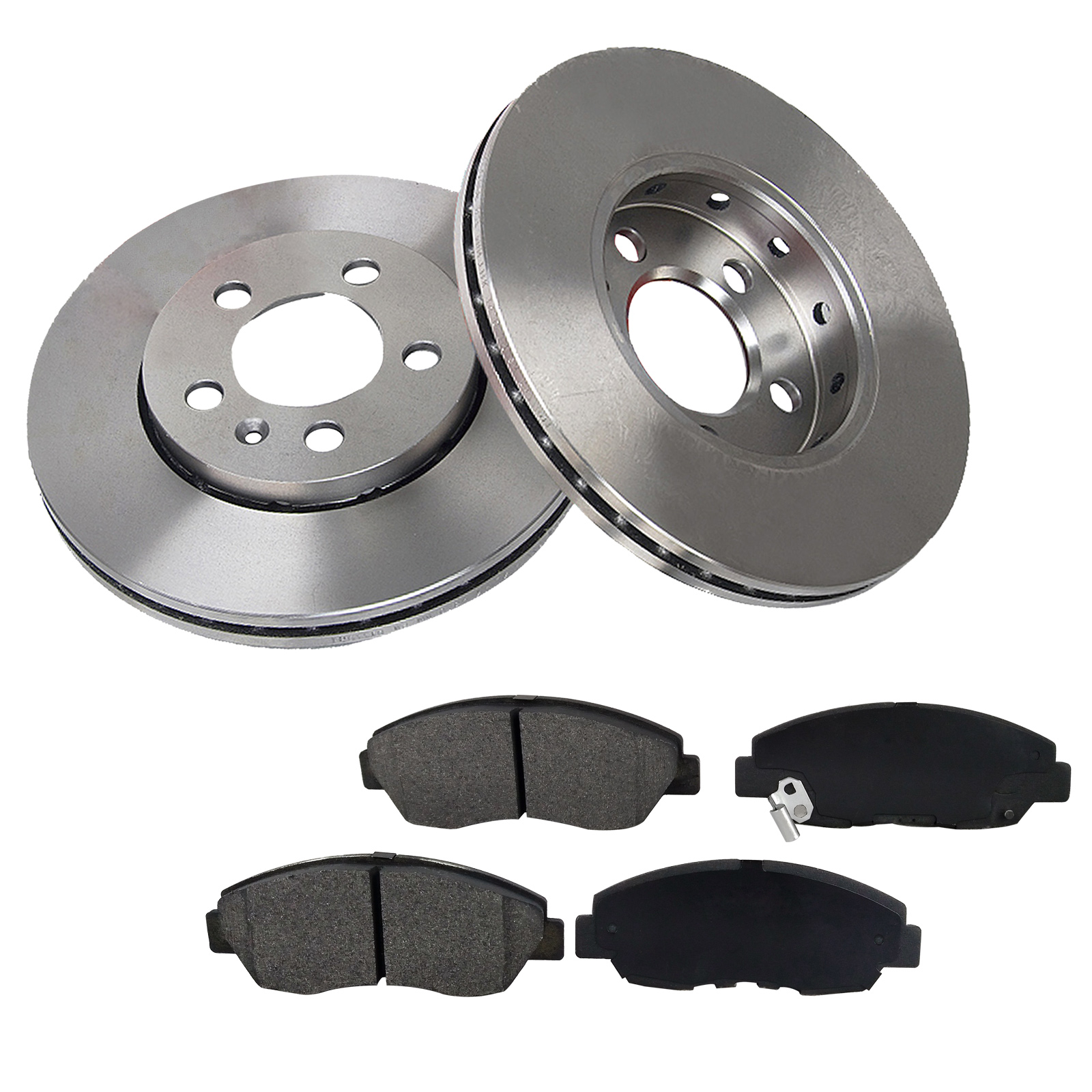 [2 Disc 4PADS]278mm Front Brake Rotor & Pads For Ford Focus OE Quality by Transglobe Automotive