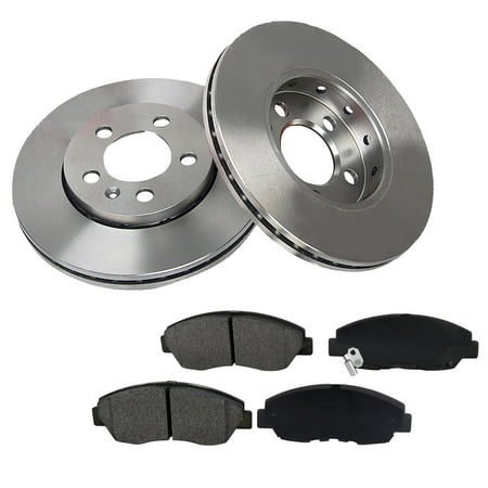 [2 Disc 4PADS]277.9mm Front Brake Rotor & Pads fit Buick LeSabre Cadillac Cadillac Heavy Duty Brake Pad