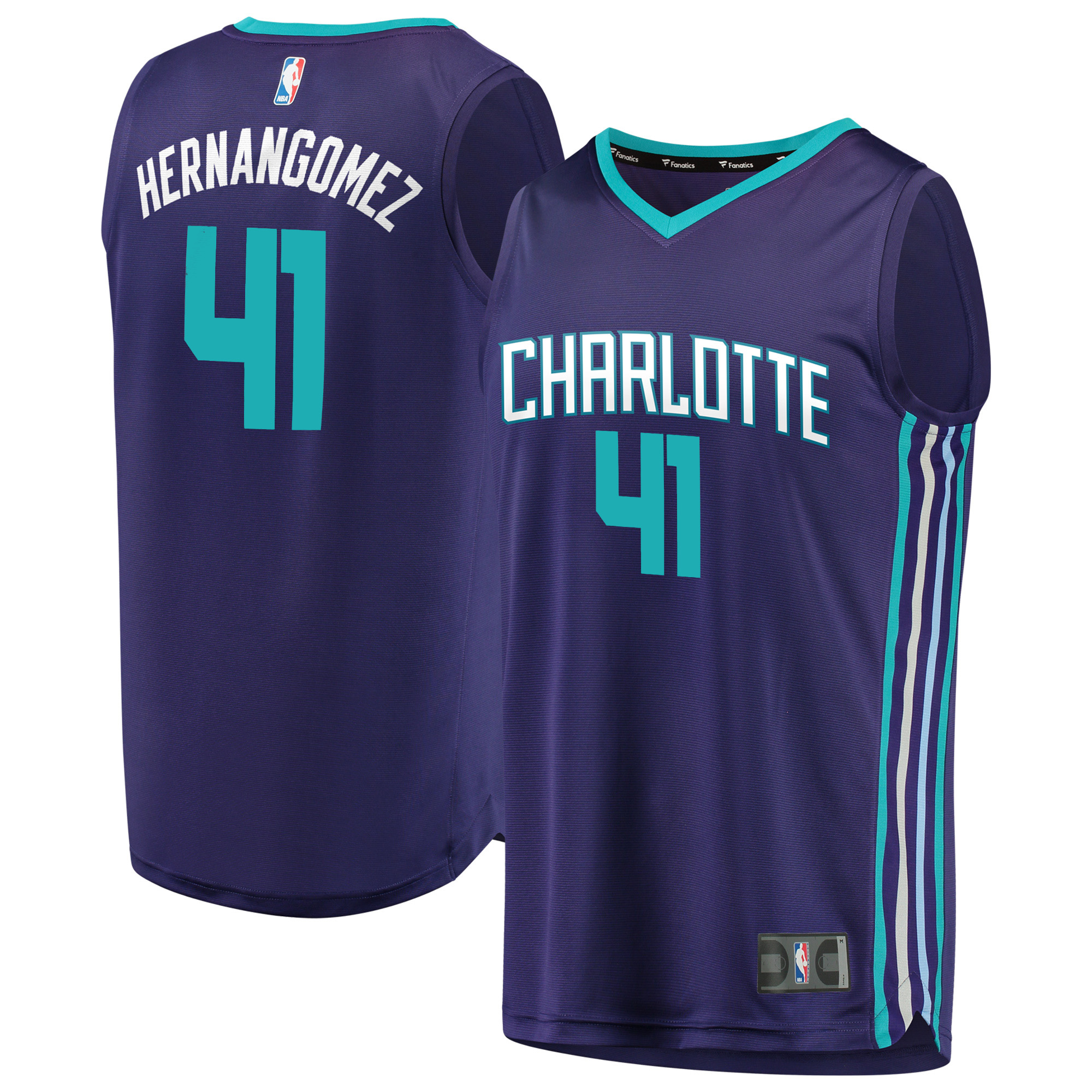 Willy Hernangomez Charlotte Hornets Fanatics Branded Fast Break Replica Player Jersey - Statement Edition - Purple