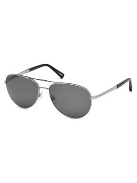 45e30370df5 Product Image ERMENEGILDO ZEGNA EZ 0035 Sunglasses 14D Shiny Light Ruthenium