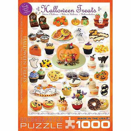 EuroGraphics Halloween Treats 1000-Piece Puzzle - Puffles De Halloween