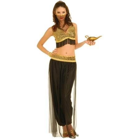 6a704b11e Black and Gold Belly Dancer Adult Costume - Walmart.com