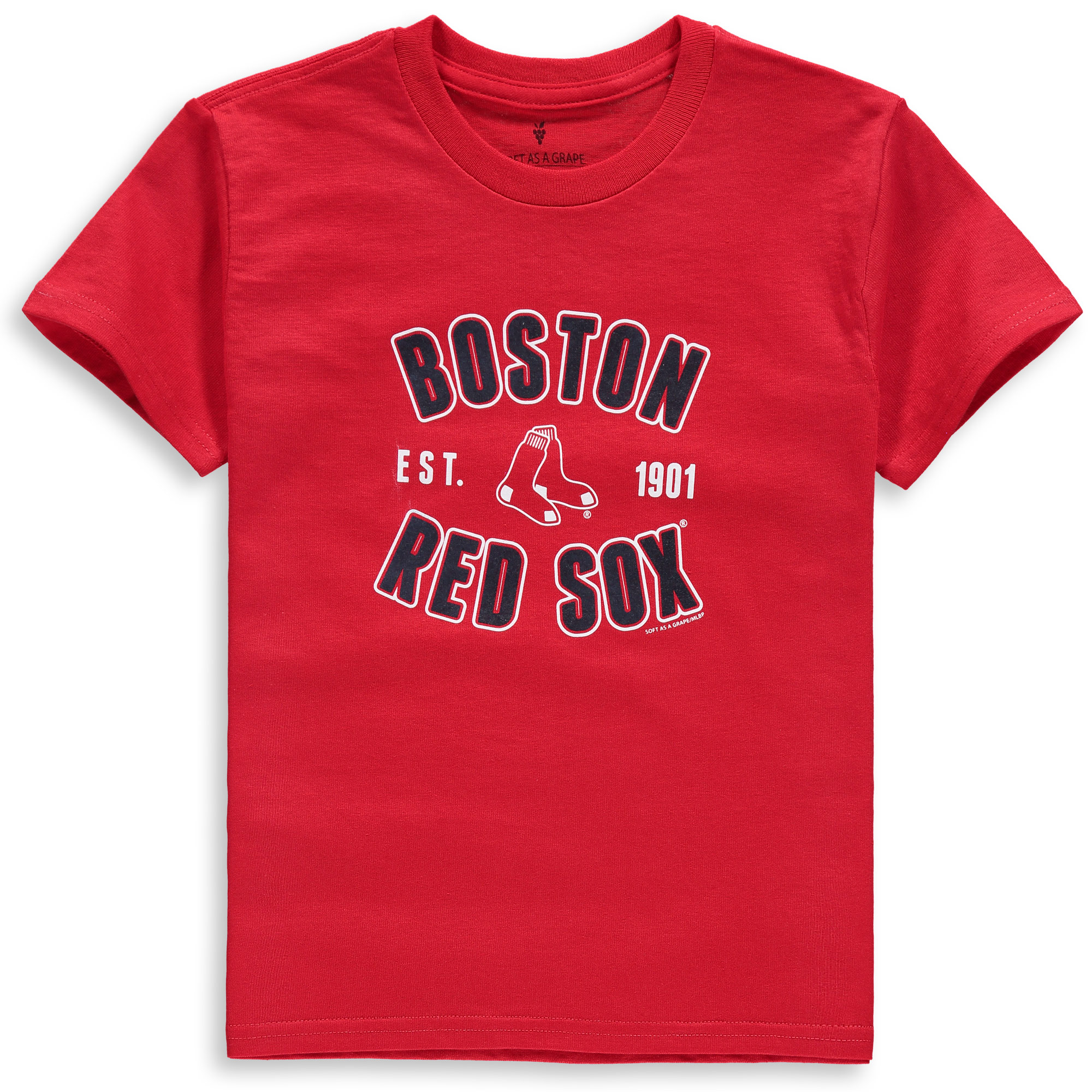 Boston Red Sox Soft as a Grape Youth Cotton Crew Neck T-Shirt - Red