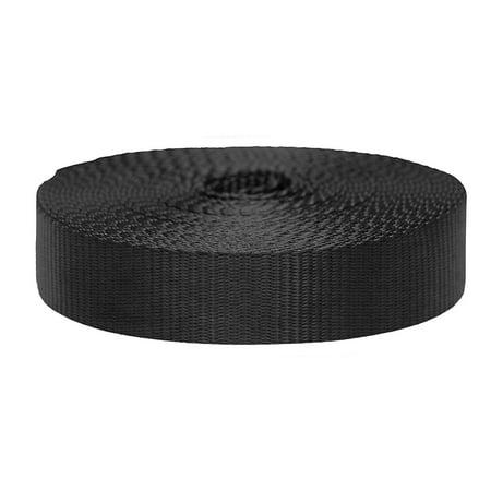 Strapworks Flat Nylon Webbing 3/4 inch by 10 yard, Black (Nylon Coated Webbing)