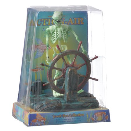 - Penn Plax Action Aerating Skeleton & Wheel 5 Tall
