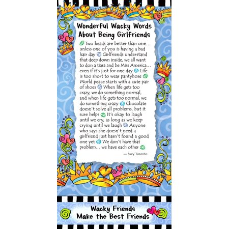 Blue Mountain Arts Magnetic Note Pad Suzy Toronto Wonderful Wacky Words About Being Girlfriends Blue Mountain Arts