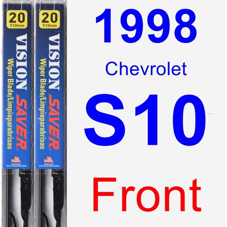 1998 Chevrolet S10 Wiper Blade Set/Kit (Front) (2 Blades) - Vision Saver Chevy S10 S10 Wiper