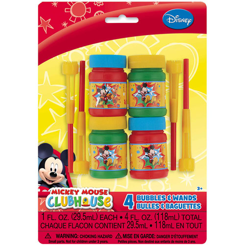 Mickey Mouse Clubhouse Bubbles, 4ct
