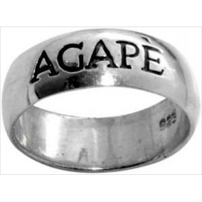 Solid Rock Jewelry 04260X Ring Agape Style 415 Ss Size 10 - image 1 de 1