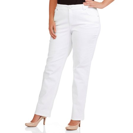 Just My Size Women's Plus-Size Petite Slimming Classic Fit Straight-Leg Jeans With Tummy Control