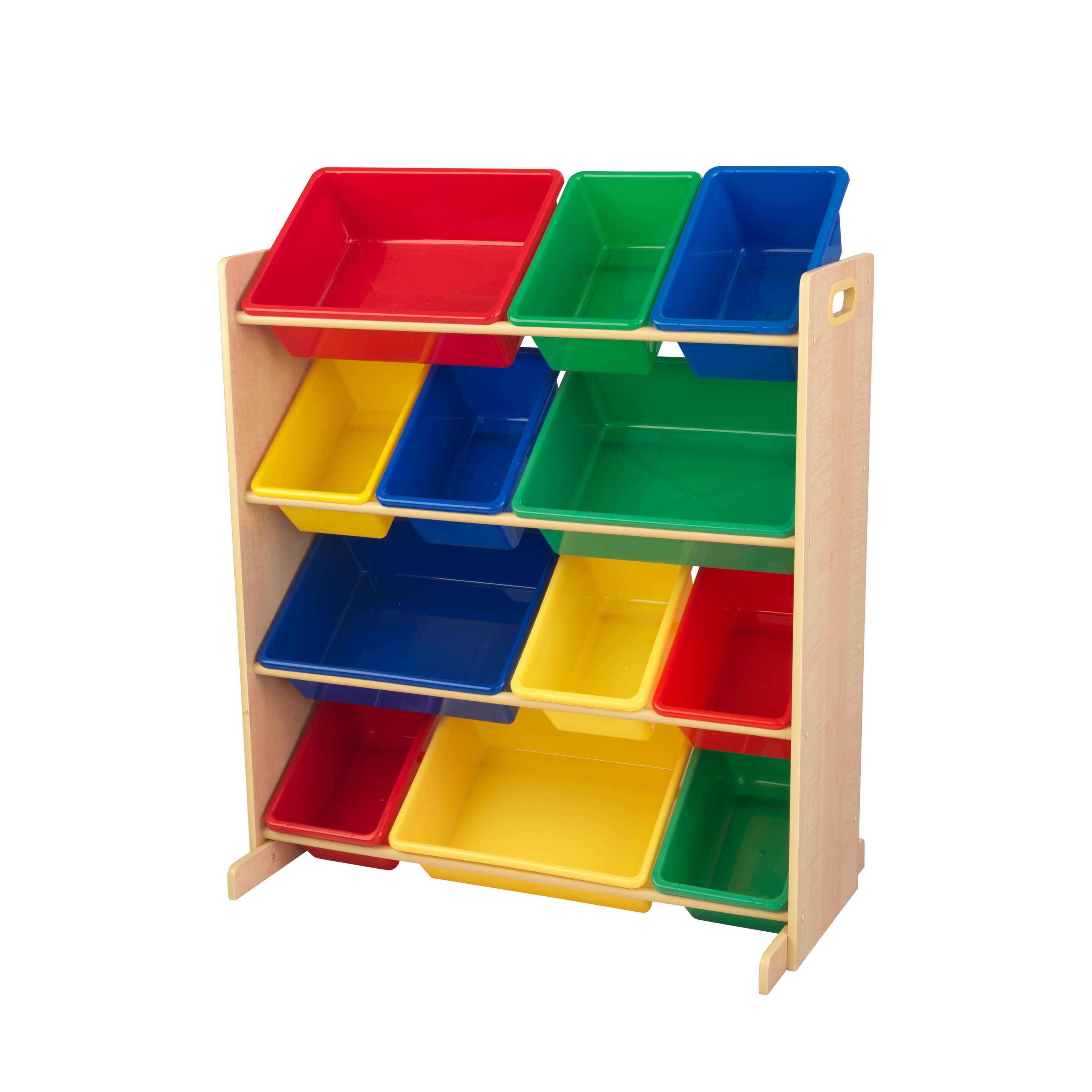 KidKraft Sort It & Store It Bin Unit - Primary & Natural
