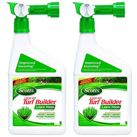 Scotts Turf Builder Lawn, Soil & Grass Fertilizer Concentrated Spray (2 Pack)