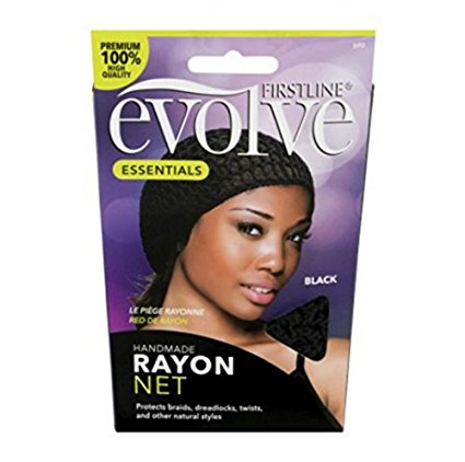 Evolve Rayon Hair Net Black