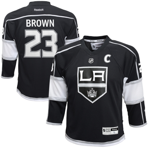 Dustin Brown Los Angeles Kings Reebok Youth Replica Player Hockey Jersey Black by Outerstuff