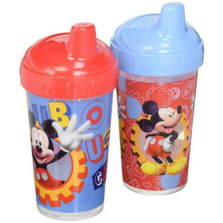 Disney Mickey Mouse Clubhouse Sippy Cups, Red/Blue, 2 Count](Mickey Mouse Plastic Cups)