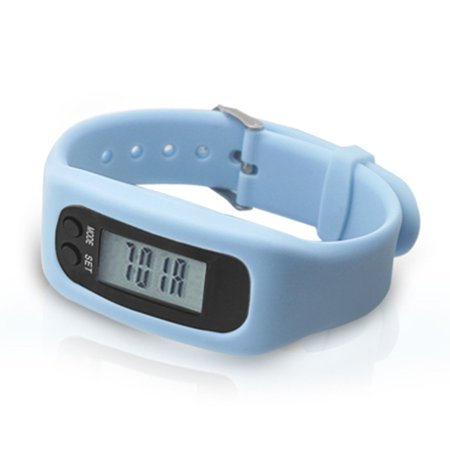 Pedometer Sports Monitor Running Exercising Step Counter Silicone Wristband - image 4 of 9