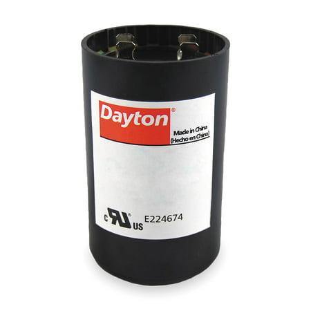 Dayton Round Motor Start Capacitor, 216-259 Microfarad Rating, 220-250VAC Voltage - (Surge Capacitor)