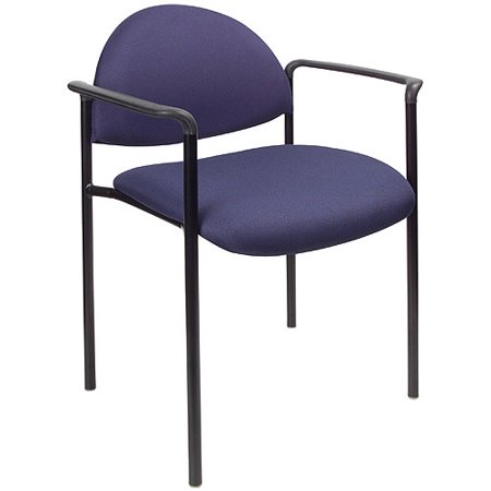Boss Office Products Diamond Stacking Chair with Arms Deal