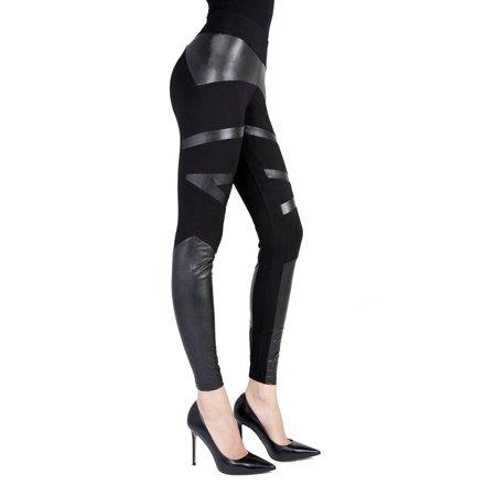 a16996b06d91b SlimMe - SlimMe Memoi Sexy Moto Pleather Butt Shaping Leggings | Faux  Leather Leggings Small/Medium / Black MSL 001 - Walmart.com