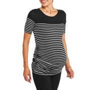 Maternity Elbow Sleeve Striped Top