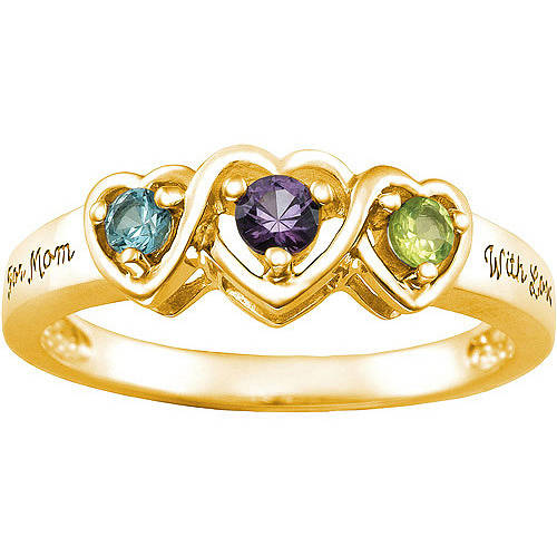 Keepsake Personalized Entwined Mother's Birthstone Ring