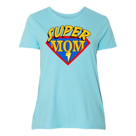 Superhero Mom Women's Plus Size T-Shirt (Superhero T Shirts Plus Size)