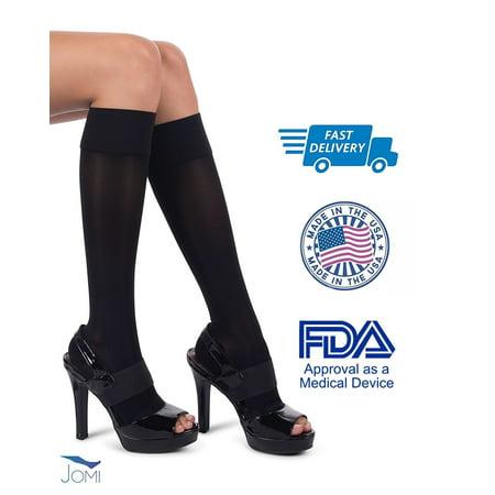 c6d8347d7 Jomi Sheer Collection 133 Compression Knee Highs 15-20mmHg - Open Toe  (Medium