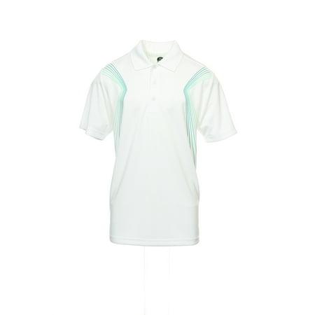 Pga Tour Mens White Heather Polo Shirt