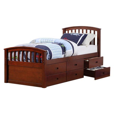 Donco Kids Twin 6 Drawer Storage Bed