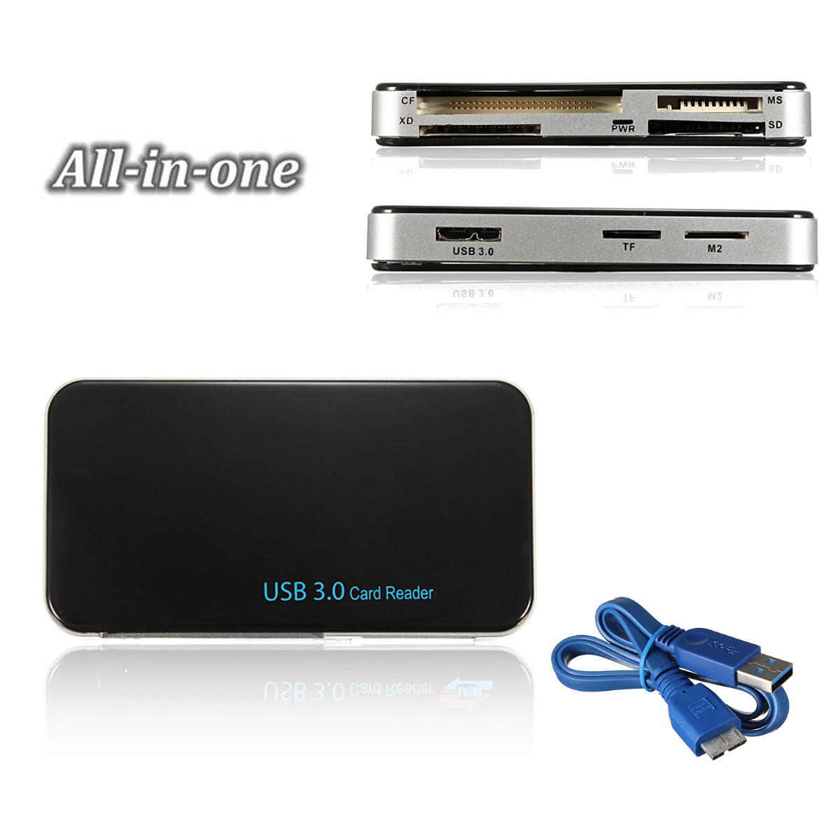 USB 3.0 Compact Flash Multi Card Reader All in 1 CF Adapter Micro SD MS XD 5Gbps