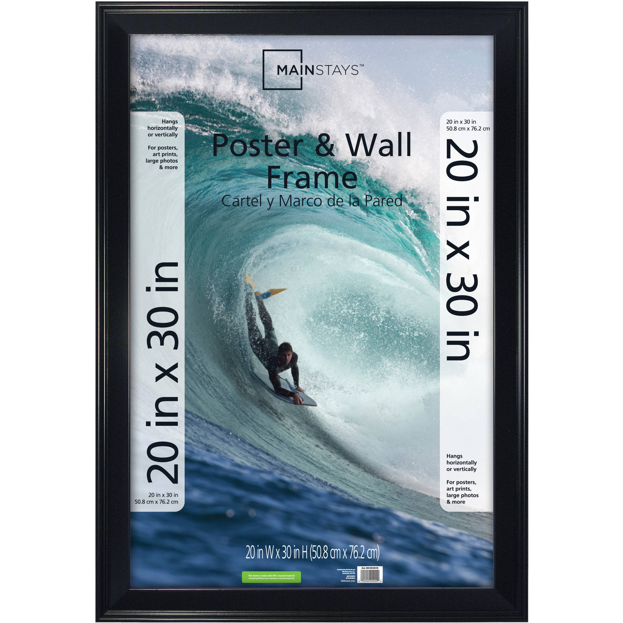 """Mainstays Casual Black Step Poster Frame, 20"""" x 30"""""""