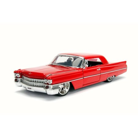 1963 Cadillac, Red - JADA 99552DP1 - 1/24 Scale Diecast Model Toy Car (Brand New but NO (Cadillac Tow Hook)