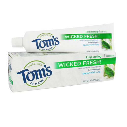 Toms Of Maine Long Lasting Wicked Fresh Spearmint Ice Fluoride Toothpaste - 4.7 Oz
