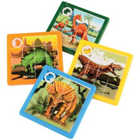 (Price/Pack)US TOY 4459 Dino Slide Puzzles, 8-pcs. (Slide Puzzles)