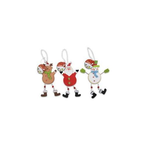 DDI Christmas Hanging Decoration 10 inch 3 Assorted- Case of 96