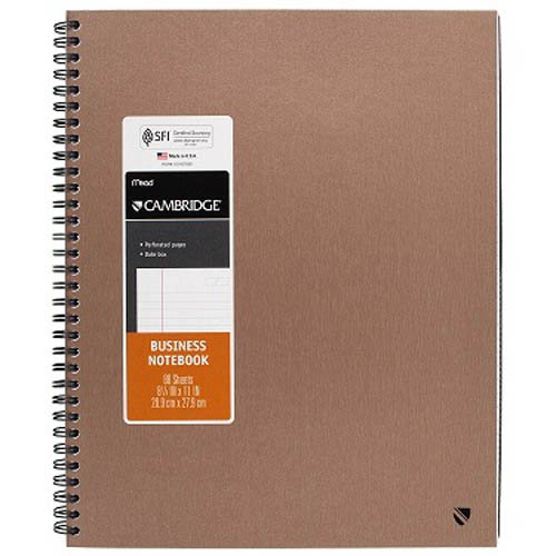 Mead Cambridge Large Metallic Business Notebook (0632310)
