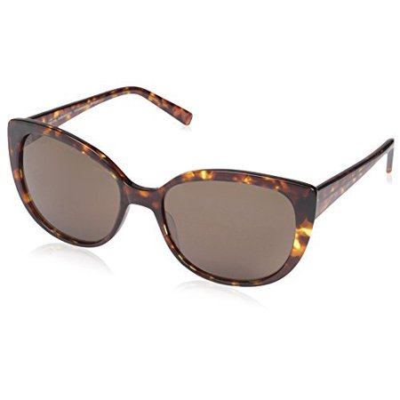 SOCIETY NEW YORK Women's Modified Cat-Eye Sunglasses, Dark Tortoise, 56-17-140