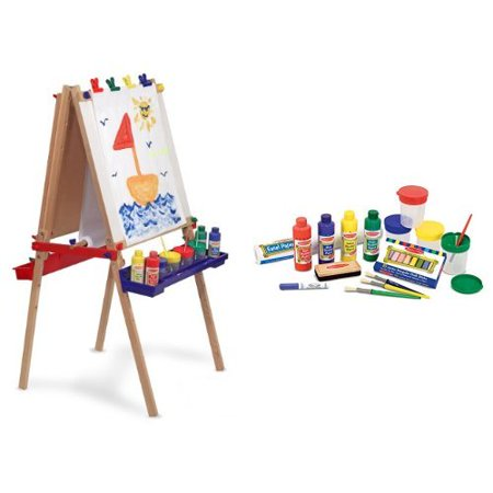 Melissa Doug Deluxe Easel And Accessory Set Bundle