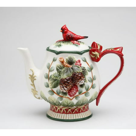 Cosmos Gifts Evergreen Holiday Teapot