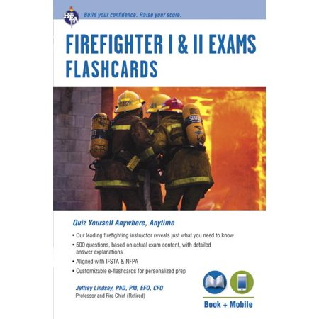 Firefighter I & II Exams Flashcard Book (Book + Online) - Fighter Power Cards