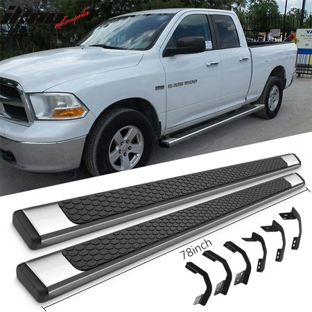 Dodge Ram Traction Bars - Fits 09-18 Dodge Ram Quad Cab 78inch OE Style Step Bars Running Boards SS Pair